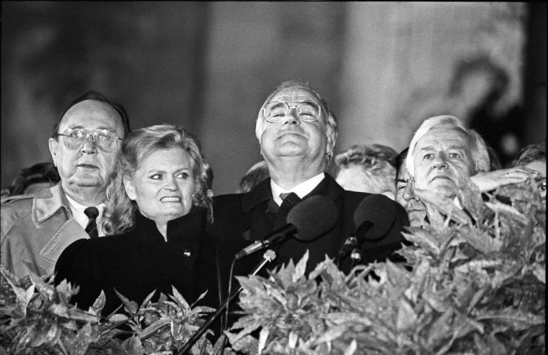 Wiedervereinigung,Berlin, Reichstag,03.10.1990