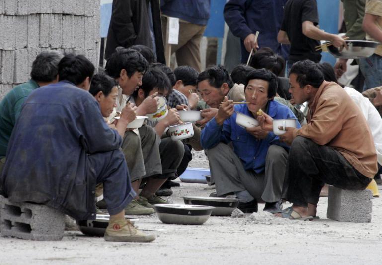 Mittagspause !Peking, 2005