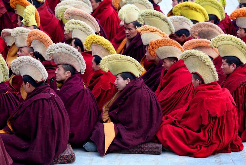 Moenche in Tibet, 2009