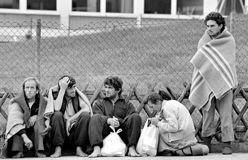 Albanische Flüchtlinge,Geseke,1990