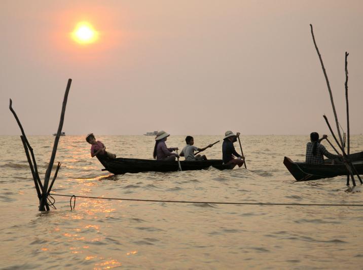 Fischerboote,Tonle Sap See,Kambodscha, 2007