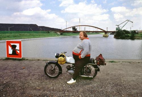 Mopedfahrer, Essen,1988