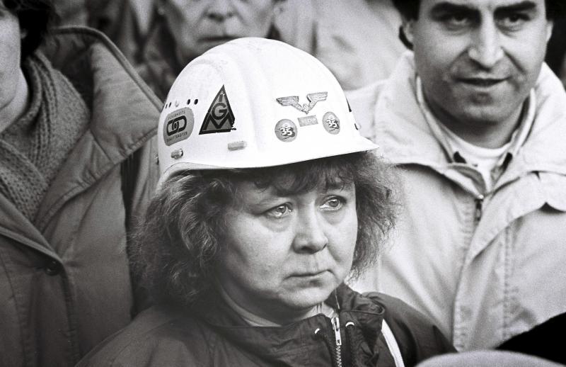 Letzte Schicht im Werk,Duisburg Rheinhausen, 1993