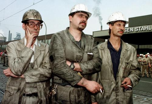 Stahlarbeiter Demo,Duisburg,1996