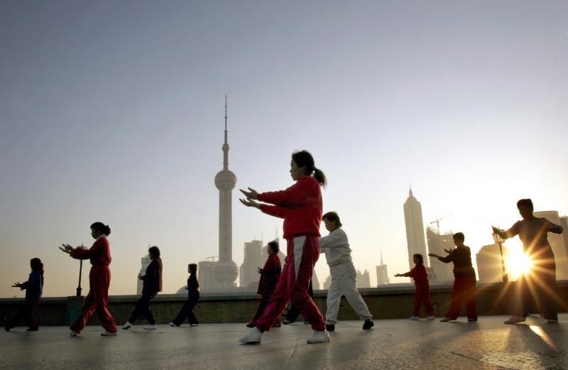 Tai Chi, Shanghai,China, 2004